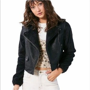 Urban Outfitters | BDG | Faux Leather & Fur Bomber